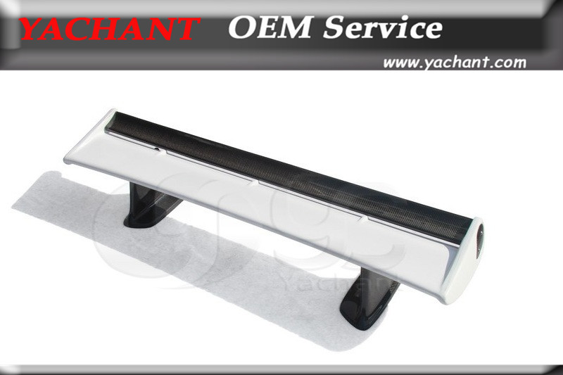Fiber Glass FRP Rear Spoiler w/ FRP Jun Higher Legs and Carbon Blade Fit For 99-02 <font><b>Skyline</b></font> <font><b>R34</b></font> <font><b>GTT</b></font> GTR OEM Style Spoiler Wing image