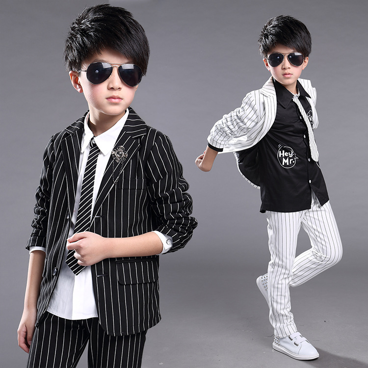 new spring/autumn baby boy's clothing set boy's suit and trousers casual suits clothing boy's jacket and pants 16806