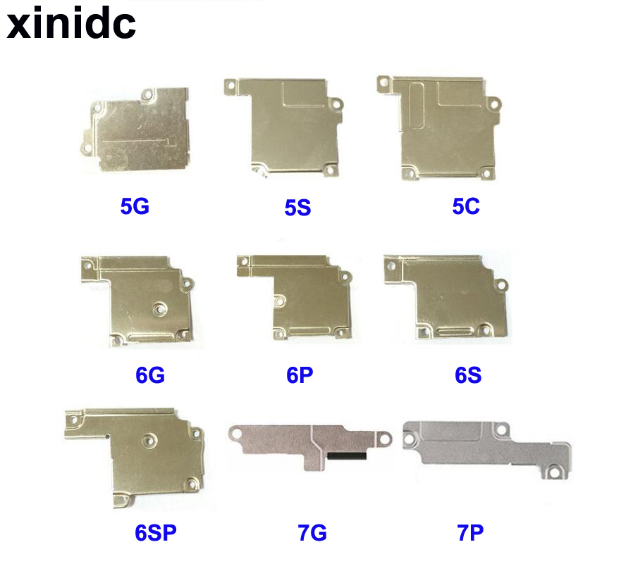 Xinidc 5pcs New For iPhone 5 5S 5C 6 6 Plus 6S 6S Plus 7 7P Lcd Display Flex Cable Metal Wifi Antenna Cover Plate Holder Bracket image