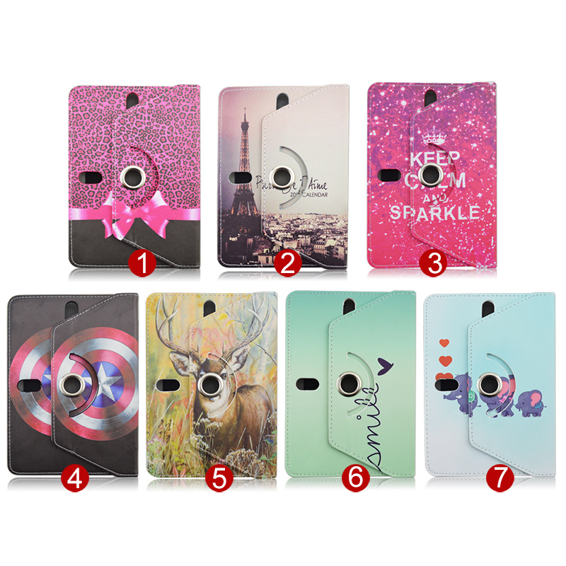 все цены на  Print Leather Cover Case For Texet X-pad Navi 7.6 3G TM-7849/Quad 7 TM-7876/Hit 7 TM-7866 Universal 7.0 inch tablet S4A92D  онлайн