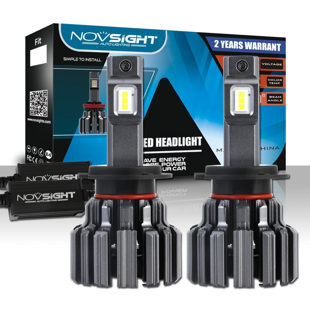 NOVSIGHT H7 Car LED Headlight Bulbs 90W 15000LM Single Beam LED H7 Automobile Headlamp Car Lights
