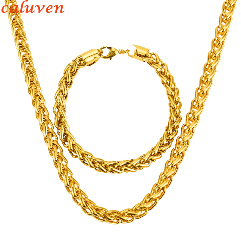 Necklace Set Trendy Gold...