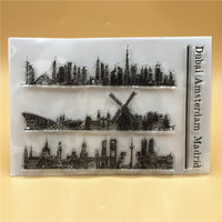 Building Instrument Transparent Clear Silicone Stamp/Seal for DIY scrapbooking/photo album Decorative clear stamp sheets A481