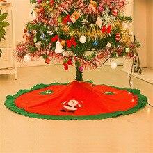 Christmas Decorations For Home 2016 Straight Edge 90CM Non-Woven Christmas Tree Skirt Aprons Decoracion Navidad