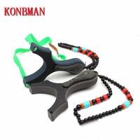 KONBMAN High Quality High Velocity Elastic Hunting Fishing Slingshot Shooting Catapult Bow Arrow glass fiber Slingshot