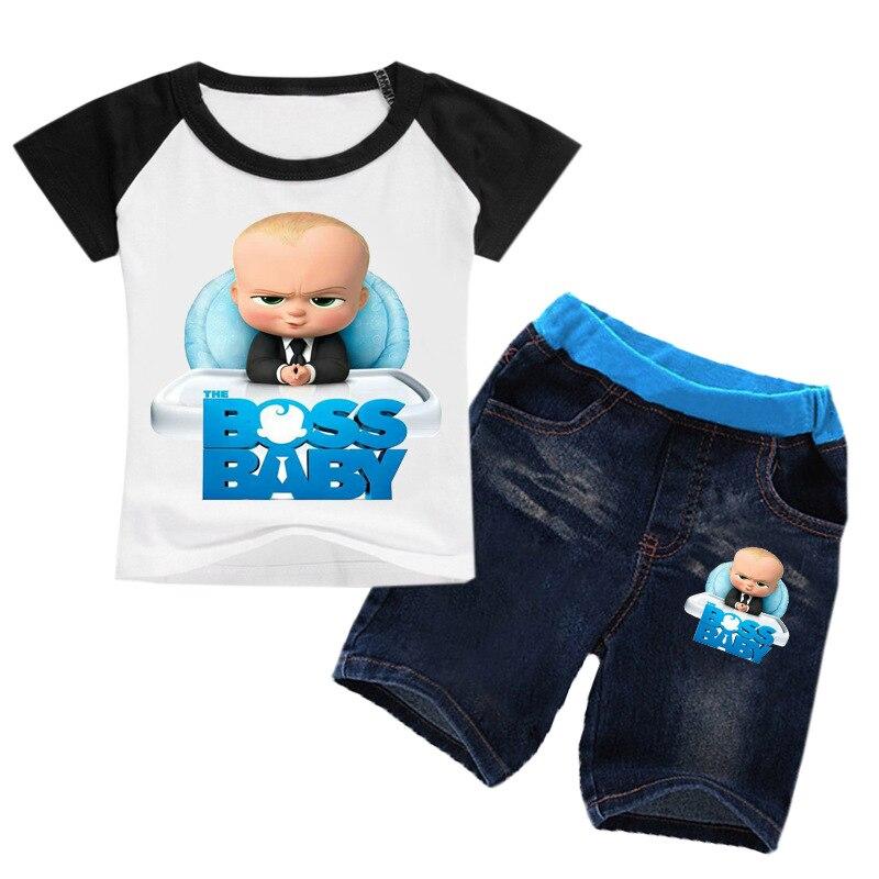 Z & Y – ensemble de vêtements dété pour enfants de 2 pièces 16 ans, T-Shirt et short, tenue pour garçons et filles