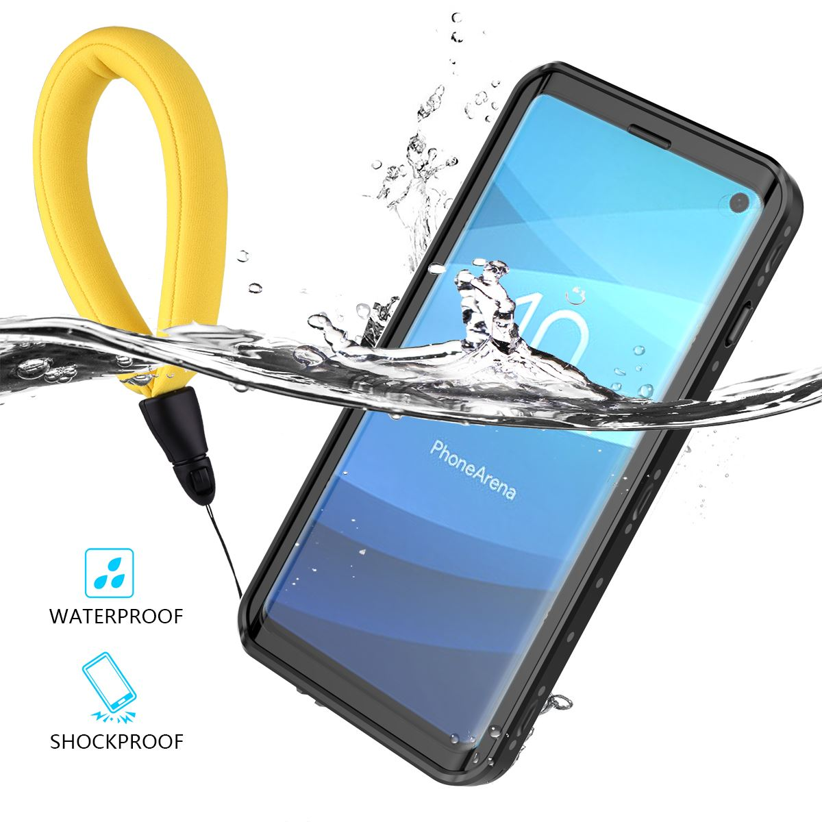 new style 2fa8f 52265 IP68 Waterproof Phone Case For Samsung Galaxy S10 360 Degree Protection  Dustproof Shockproof Phone Cover For Samsung Galaxy S10