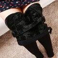 Plus Invierno Engrosamiento de Terciopelo Leggings Pantalones Ropa de Maternidad Para Las Mujeres Embarazadas Calientes de Liga de Alta Cintura Pantalones Embarazo