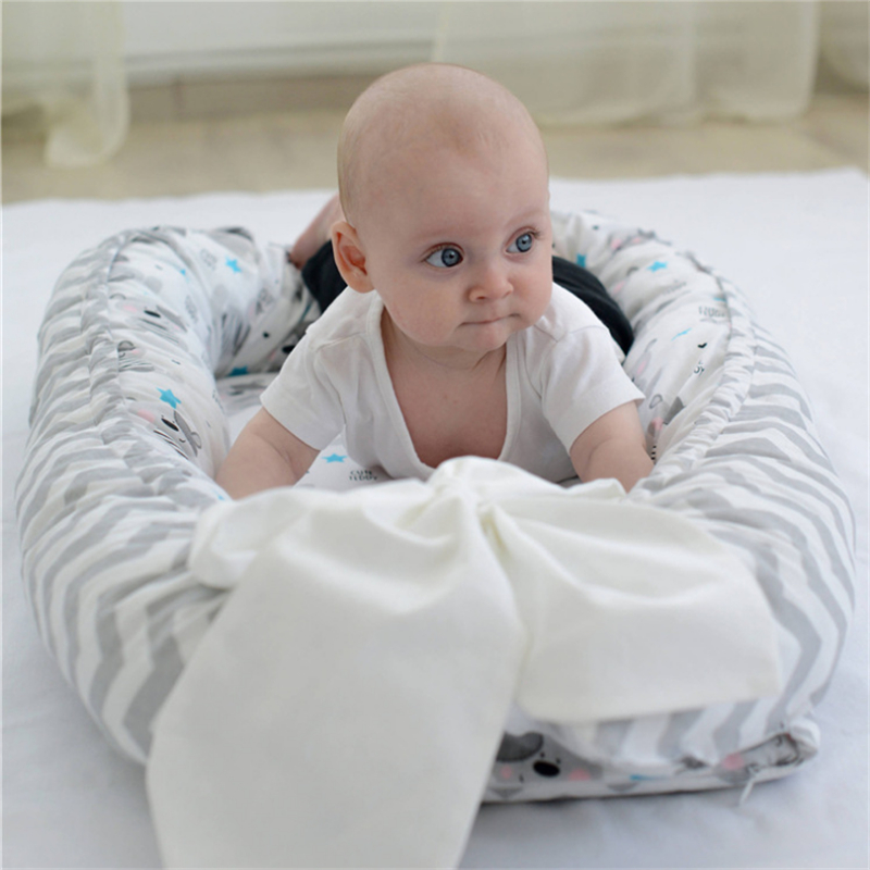 80*50cm Portabel Baby Bed Newborn Nursing bionic bed crib cot BB sleeping artifact Bed Travel Bed Bumper Детская кроватка
