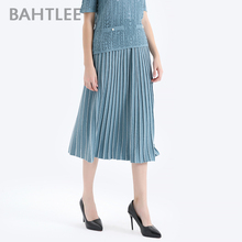 Skirt Calf Pleated Line