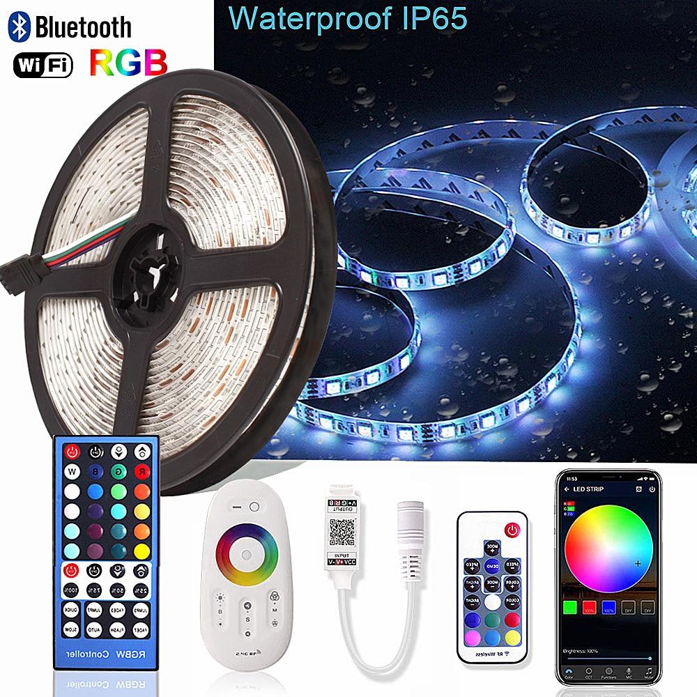 5M 5050 RGB RGBW LED Strip Waterproof IR/RF/WiFi/Bluetooth Controller Neon Ledstrip Backlight Ambilight TV Light Diode Tape 12V