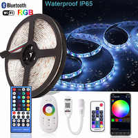 5M 5050 RGB RGBW LED Strip Waterproof IR/RF/WiFi/Bluetooth Controller Neon Ledstrip Backlight Ambilight TV Light Diode Tape 12V