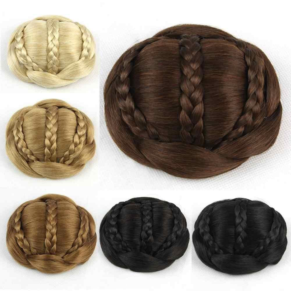 Soowee 6 цветов синтетические волосы плетеный шиньон зажим в пучке волос женщин волос пончик роликовые накладные волосы вечерние аксессуары для волос