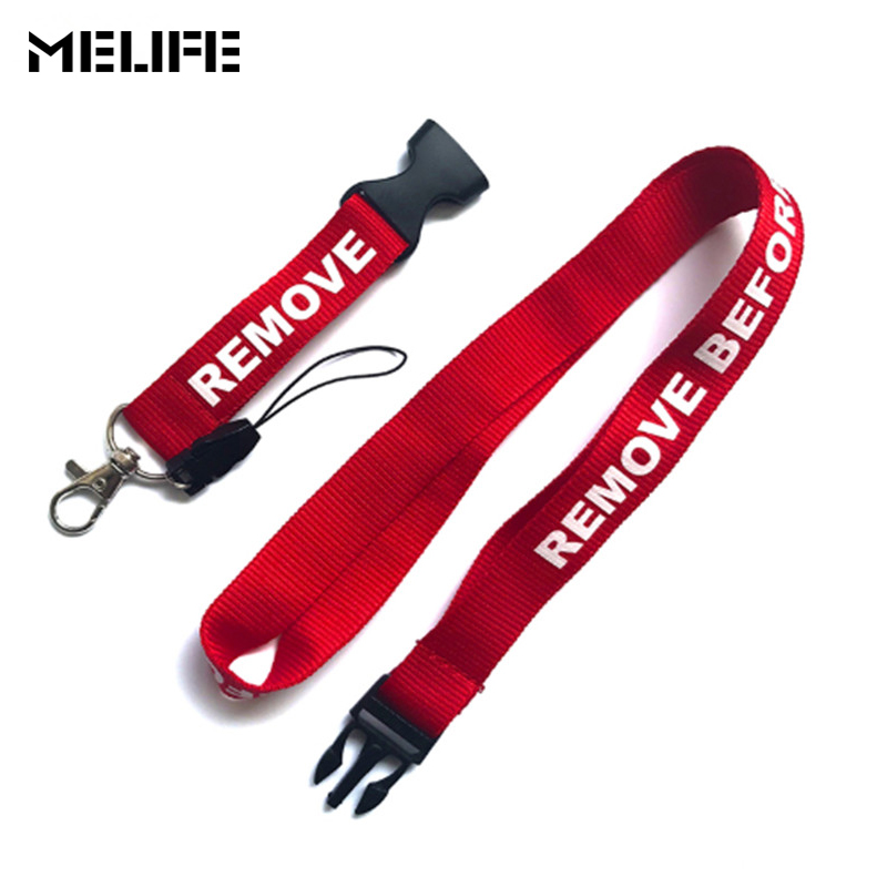 MELIFE Climbing Lanyards Keychain Strap For Card Badge Carabiner For Key Holder Hang Rope Mix Lot Keychain Remove Before Flight