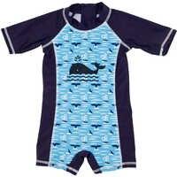 KAVKAS Zwempak Whale Impressão Swimwear Bebê Menino Infantil Bebê Recém-nascido Fraldas Reutilizáveis Fraldas de Natação Surf Maiô