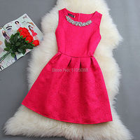 100PCS LOT Cute Spring Summer Autumn Women O Neck Sleeveless Solid Color Appliques Ball Gown Base