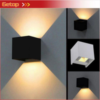ZYY 7W Waterproof IP65 Cube Wall Lamp Surface Mounted Outdoor LED Lighting Aluminum Corridor Garden Up Down Adjustable Wall Lamp