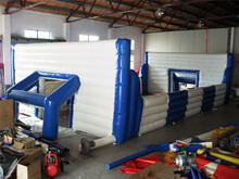 Commercial inflatable sports game,inflatable soap football field, kids football inflatable sport