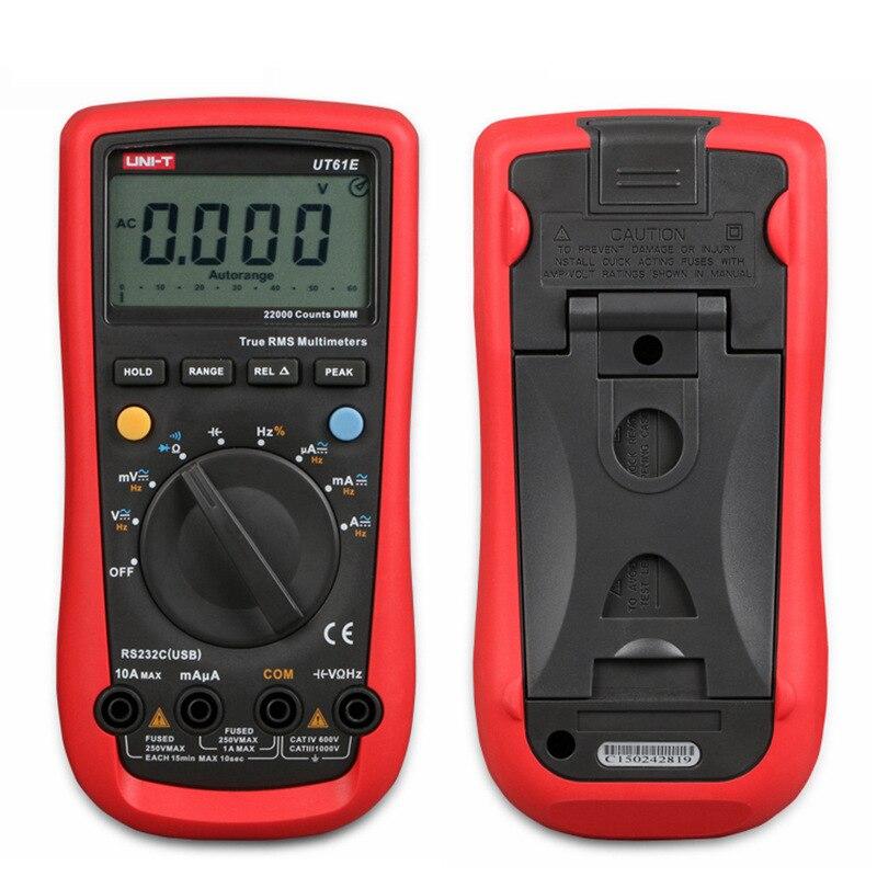UNI-T UT61E UT61C Modern Digital Multimetri Vero RMS Misure Automatiche AC DC Amperometro Voltmetro