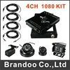 Full HD 1080P 4CH CAR DVR Kit Including 4 HD Cameras 4pcs 5 Meters Extension HD