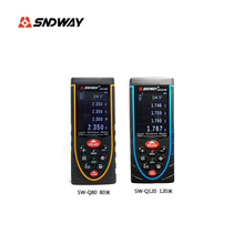 Sale SNDWAY SW-Q80 SW-Q120 Digital talking device distance meter/Laser Rangefinders Bubble level Area/volume M/Ft/in tool