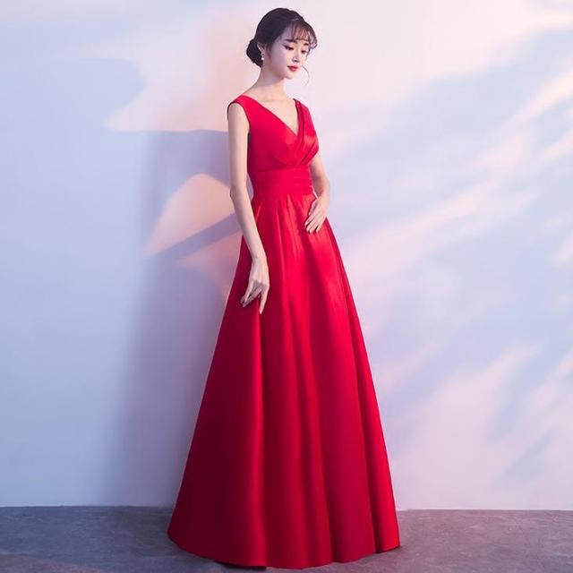 BANVASAC 2018 V Neck Satin Sash Sleeveless Long Evening Dresses Elegant A Line Pleat Backless Party Prom Gowns