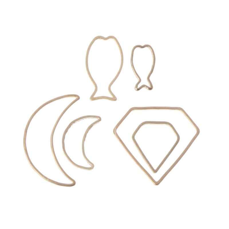 Round Square Geometric Metal Frame Jewelry UV Resin Charms Bezel Setting Bracelet Necklace Keychain Earring DIY Jewelry Making