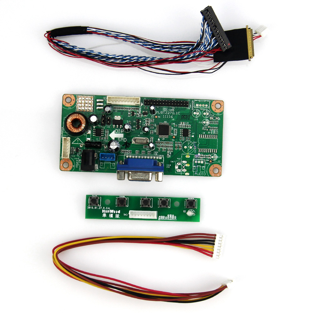 M.RT2270 LCD/LED Controller Driver Board(VGA) For LP173WD1 LTN173KT01 LVDS Monitor Reuse Laptop 1600x900