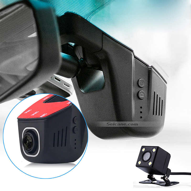 Seicane plus récent 1080 P universel DVR caché HD voiture enregistreur vidéo avec caméra arrière WIFI nuit Version 96658 surveillance de stationnement