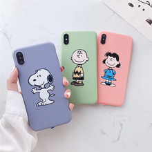 Cute cartoon candy color boy dog phone case For iphone XS MAX XR X 6 6s 7 8plus matte TPU soft shell silicone
