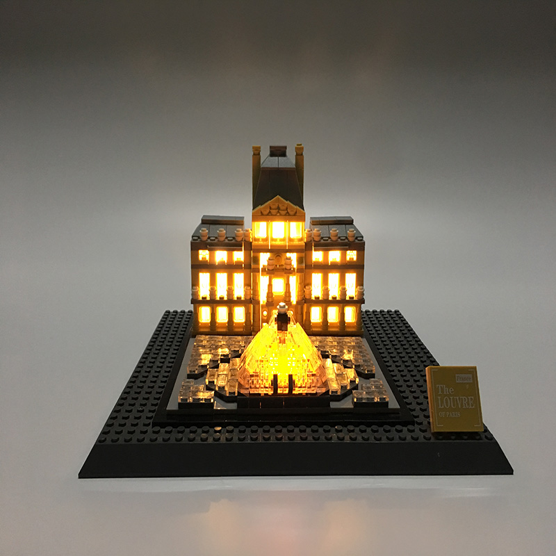 Led Light Set For Lego Building City Street 21024 Architecture Series Louvre Toys Blocks Creator City Street Lighting Set lego architecture series city building blocks toys paris louvre building toys a tourist souvenir for lego travel toys brinquedos