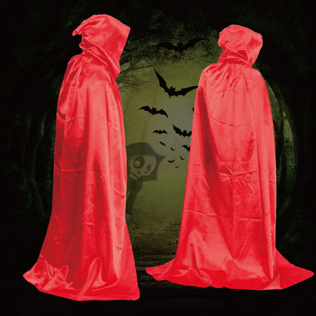 Party & Holiday DIY Decorations Halloween Costume Wizard Cape Mopping Adult Grim Reaper Black Red Silver Golden Cloak 2