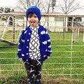 2016 nova primavera outono crianças Bobo escolhe de blusas para meninos meninas crianças roupas de outono Cardigan camisola de malha