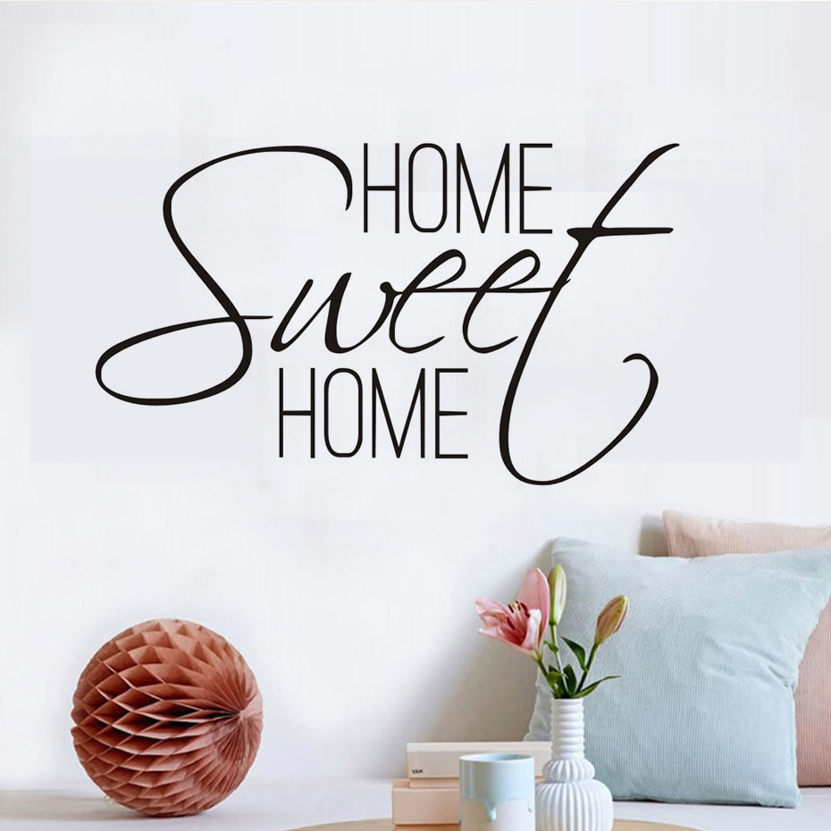 HOME SWEET HOME Wall Quote Art Sticker Decal Living Room Decor Mural
