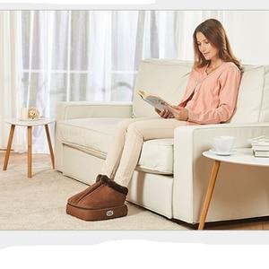 Image 3 - 2 IN 1 Electric Heated Foot Warmer Cosy Unisex Velvet Feet Heated Foot Warmer Massager Big Slipper Foot Heat Warm Massage Shoes