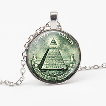Vintage Providence Jewelry Pyramid Necklace Personality Eye Pattern Pendant Handmade men women friends favorite gifts
