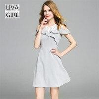 Lace Hollow Shoulder Women Dress 2017 Summer Style A Line Butterfly Elegant Dress Women Vestidos O