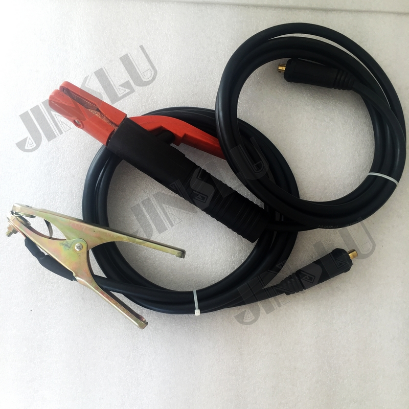 300A Electrode Holder Arc Welding Plug 35 50mm Lead Cable 3 Meter & 200A Earth Clamp 3M