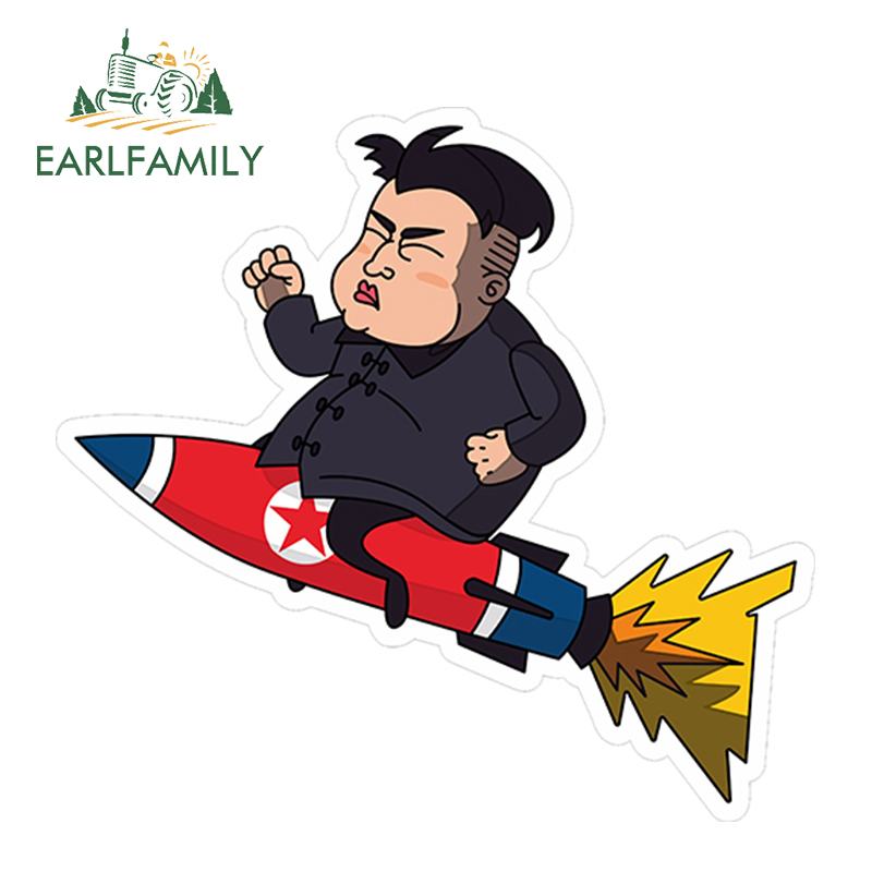 EARLFAMILY 13cm x 12.2cm Funny Cartoon Figure <font><b>Kim</b></font> <font><b>Sticker</b></font> Car Truck Window Decal Laptop Bumper Helmet Car <font><b>Stickers</b></font> Graphics image