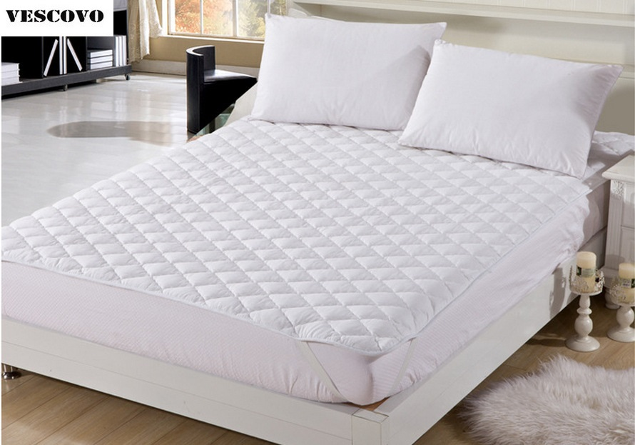 Möbel Streng 100% Baumwolle Matratzenauflage Protector Gesteppte Bettlaken Königin König Twin Voll Matratzenbezüge Matratzen