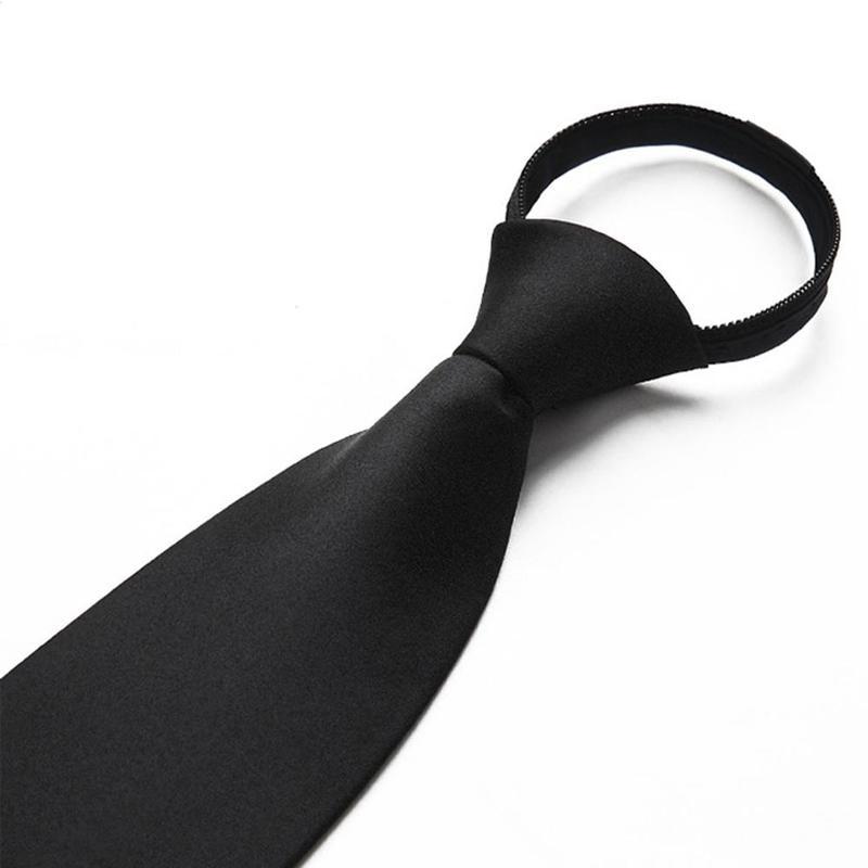 Black Clip On Tie Security Ties For Men Women Doorman Steward Matte Black Necktie Black Funeral Tie Clothing Accessories