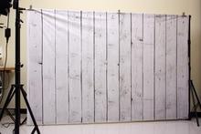 5X7ft (1.5×2.2 m) piso de madera blanca impresa telones fotografía Arte photo fondo de estudio Recién Nacido pastel de Pet D-9682