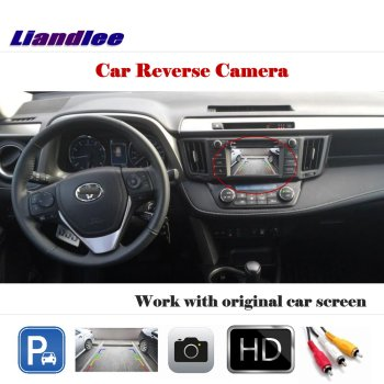 Liandlee Auto Rearview Reverse Camera For Toyota RAV-4 2014-2017 / HD CCD Rear Parking Back Camera Work with Car Factory Screen image