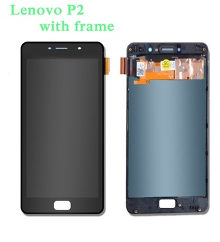 5.5inch LCD Display and Touch Screen with frame For Lenovo P2 P2a42 P2c72 Lenovo Vibe P2 LCD Display Screen Assembly Accessories