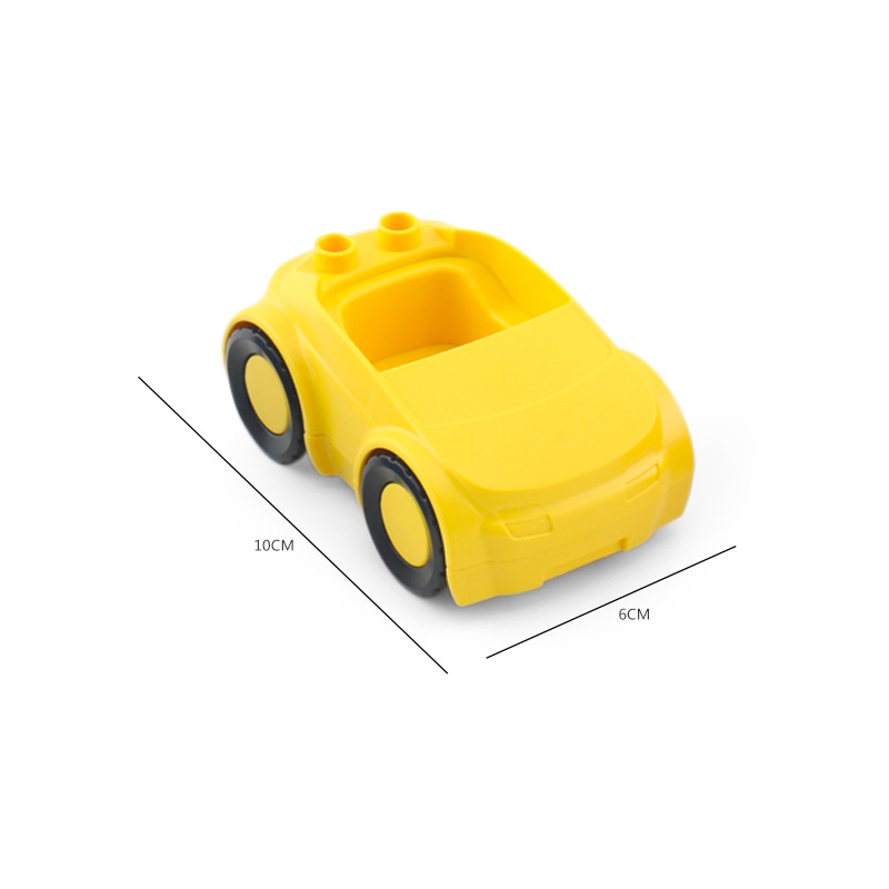 Big SIze Building Blocks Accessory City Bus Truck Aircraft Transport Fire Truck Brick Model Compatible Duploe Toys for children (34)