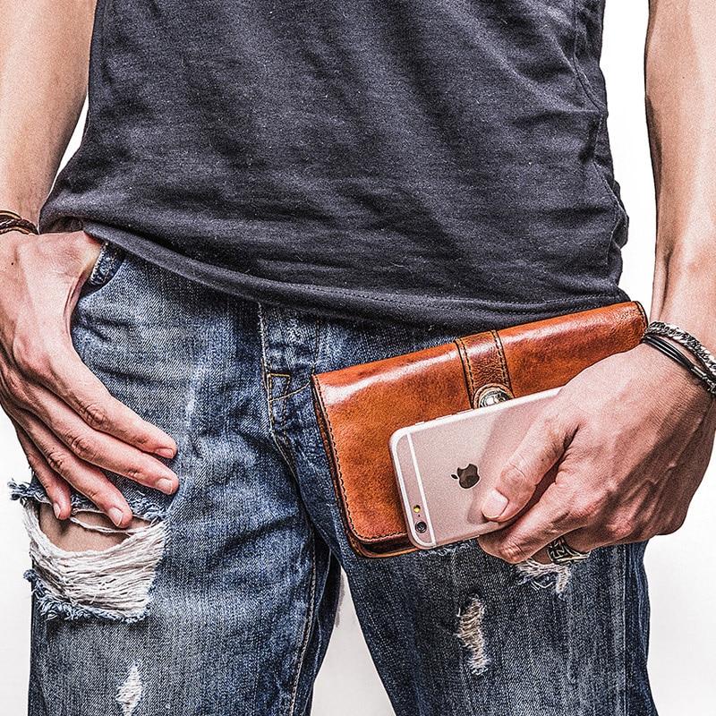 Vache Sac Jeunes Téléphone Long Hommes Aetoo Mobile En Peau Des Portefeuille Rétro Marron Cuir De Personnalité Mâle E87wwnqZOx
