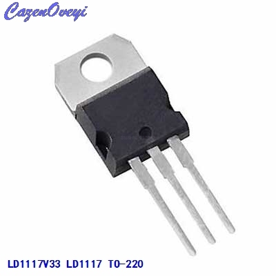 10pcs/lot LD1117V33 LD1117 LDO Voltage Regulators 3.3V 0.8A Positive new original TO-220 In Stock