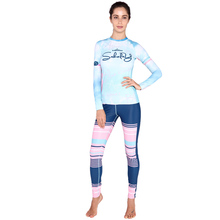 2016 hot sell SABOLAY rashguard sun protection quick dry round neck surfing clothing swimming suit for women long sleeve