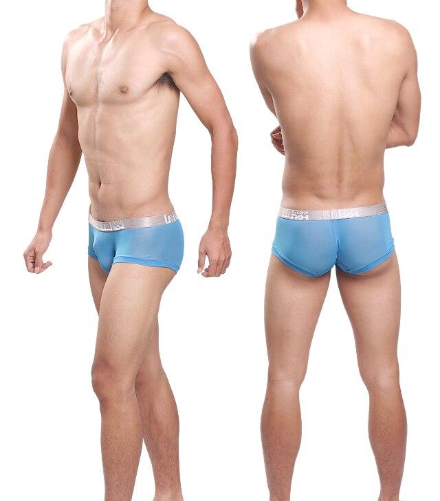 Sexy Men Underwear Cueca Transparent Boxer Shorts Man Breathable Mesh Underpants Mid-waist U Convex Pouch Panties Plus SizeM-XXL