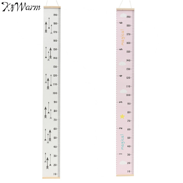 Kiwarm Wooden Wall Hanging Baby Child Kids Growth Chart Height